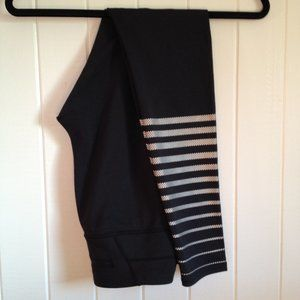 Athleta Black reflective running tight, size S